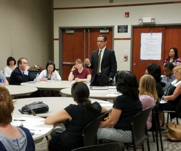 The SCUSD Community Advisory Committee meeting with Superintendent Jorge Aguilar